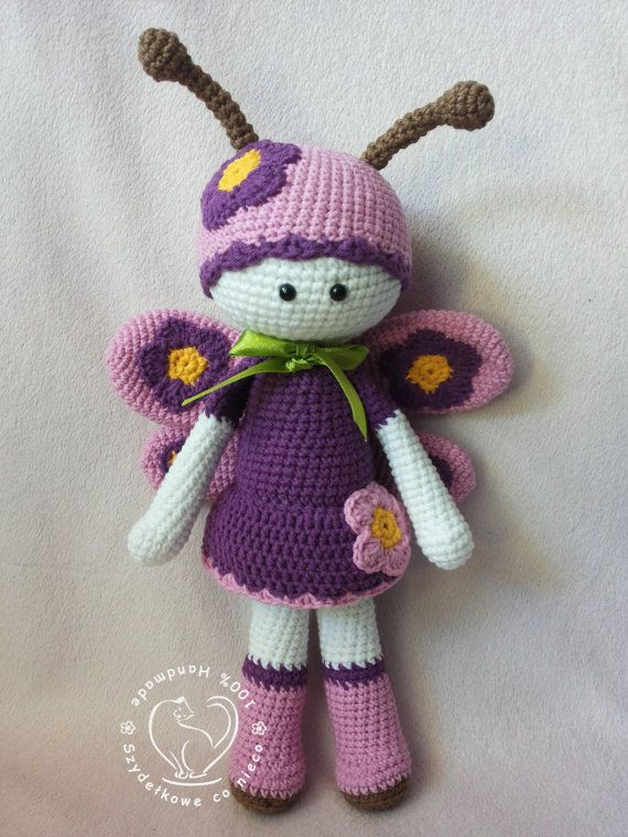 Free Amigurumi Christmas Ornament Patterns : Mariposa The Butterfly crochet pattern Butterfly ...