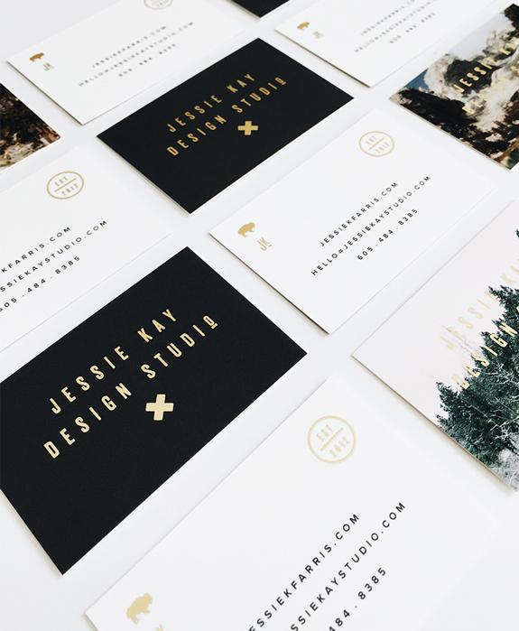 Jessica Kay Farris Loves Gold Foil Moo Blog Moo Business Cards Business Cards Creative Foil Business Cards