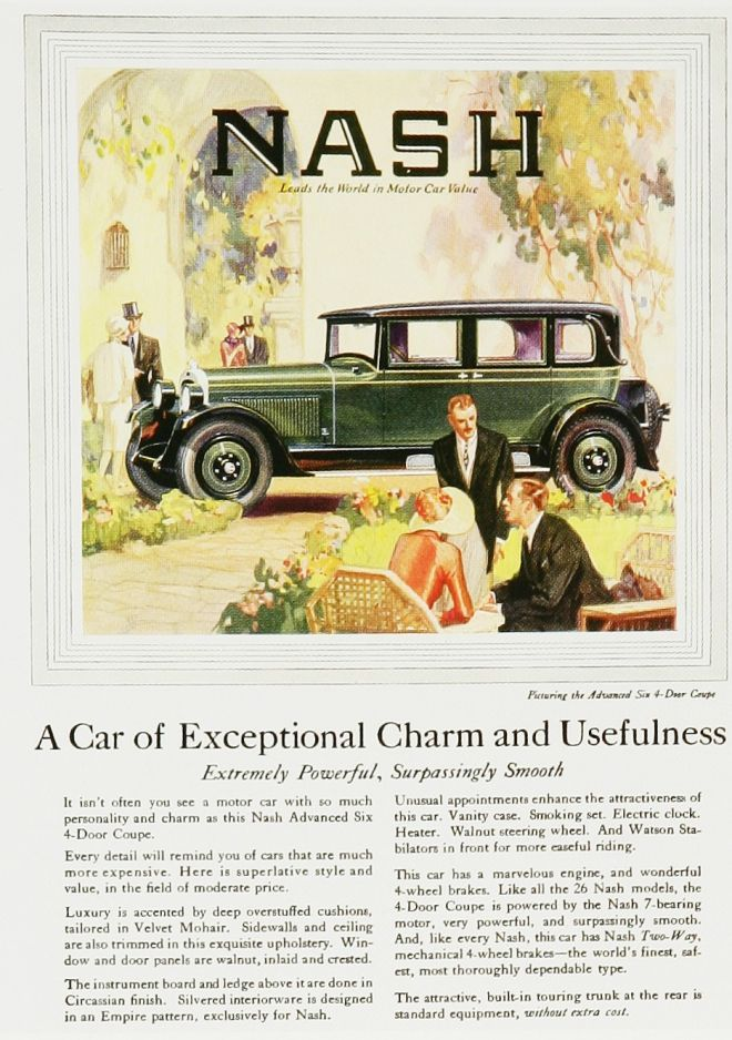 Nash 1920s- I chose this because it shows another type of car that ...
