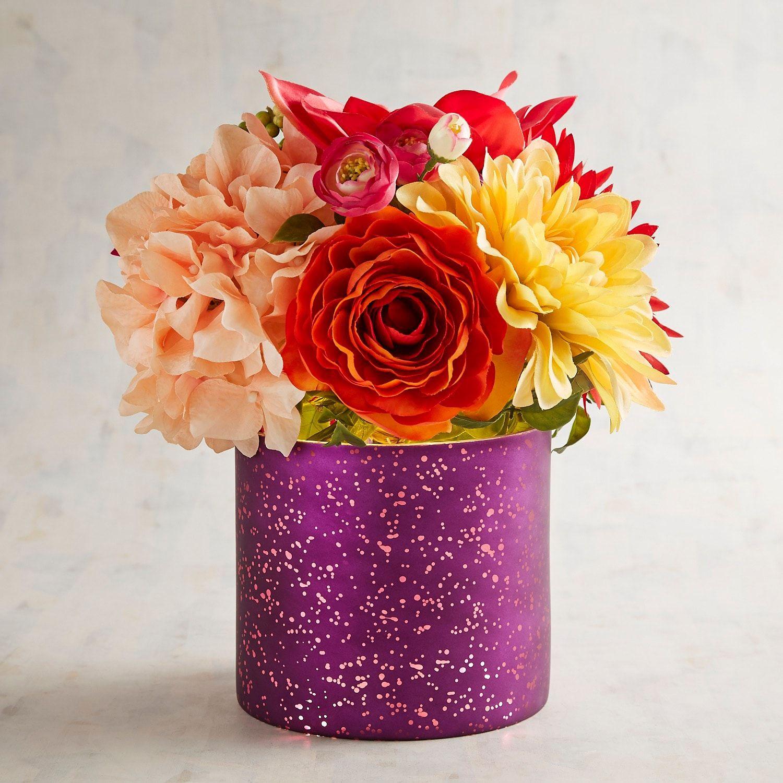 Led pre lit faux purple dahlia floral arrangement purple dahlia led pre lit faux purple dahlia floral arrangement izmirmasajfo