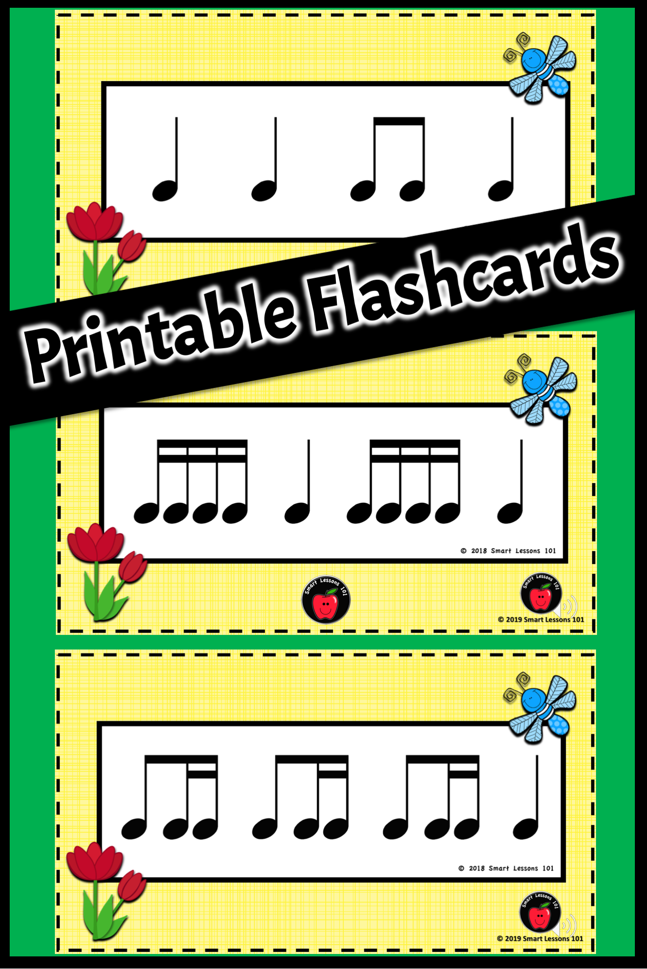 Spring Music Activities Printable Rhythm Flashcards