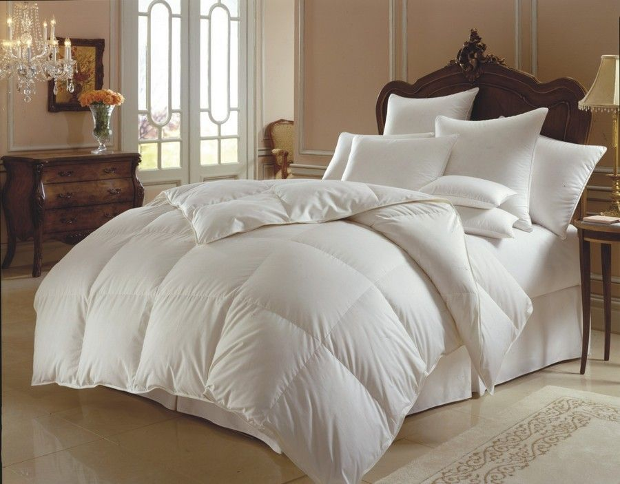goose white size pure full fill down power sets queen cotton comforter pink