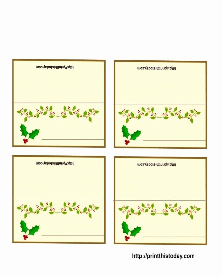 place card template free download fresh 12 place card