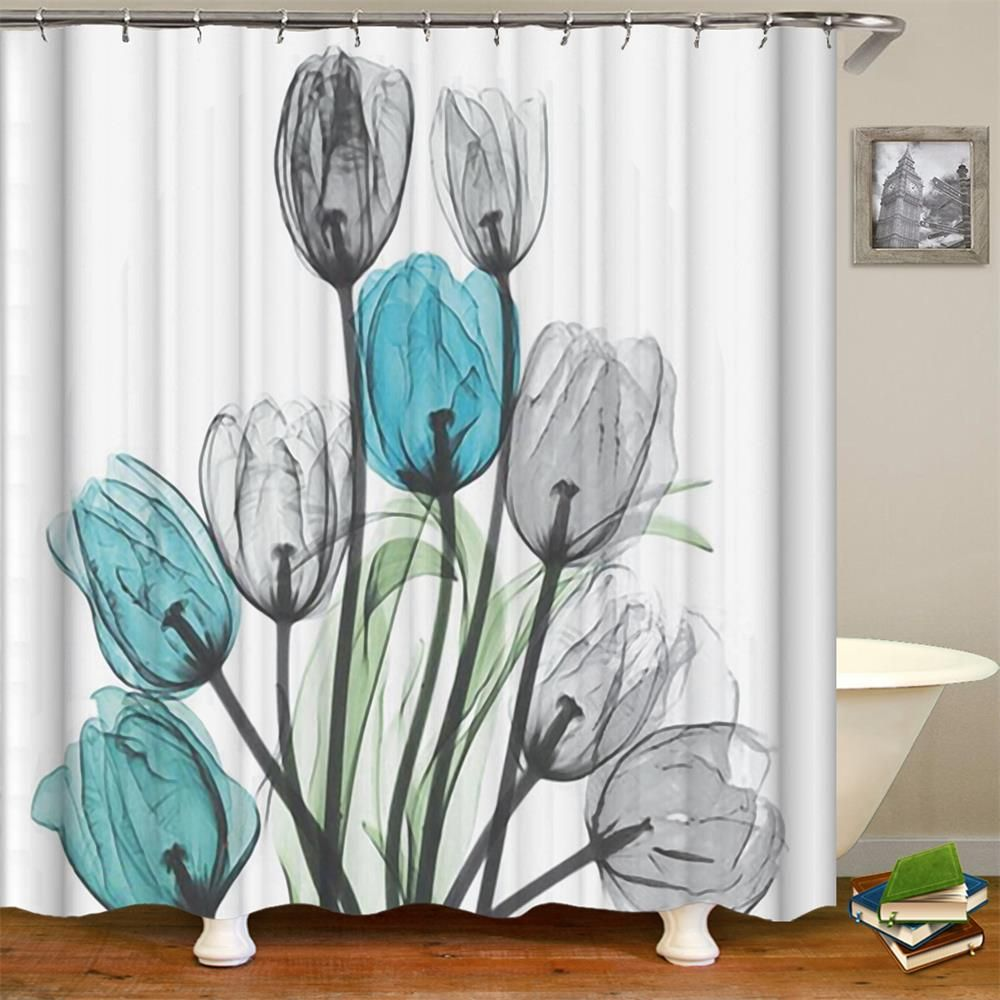 Order This Limited Editiontulip Flower Shower Curtain 1 Pc Now