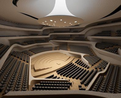 Elbphilharmonie Architektur Studieren Kleiner Saal Zuschauerraum