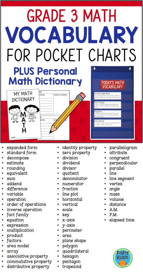 Help Your Students Learn Important Math Vocabulary With This Set