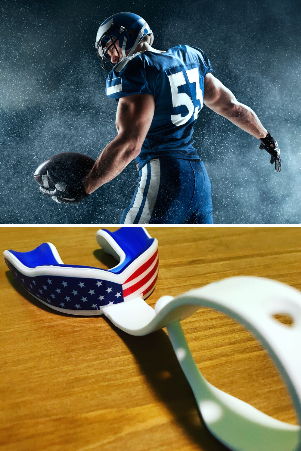 Strapped Sports Mouth Guard Football Ice Hockey Lacrosse 6 Best Colors Vampire Fangs Usa Flag Oral Mart Sports Mouth Guards In 2020 Mouth Guard Sports Mouth Guard American Flag Football