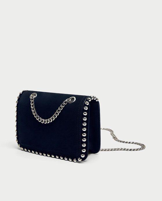 Mini Bandolera Piel Tachas In 2020 Purses Bags Leather