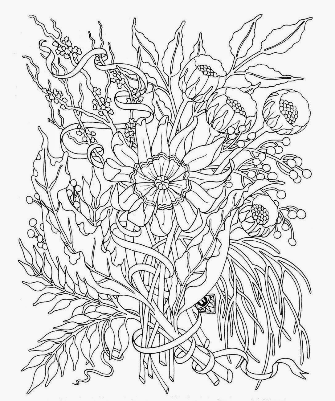 Coloring Pages Flowers For Teens With Images Garden Coloring