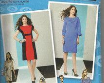 Mondrian Color Block Project Runway Princess Seams Dress Neckline And Sleeve Variations Simplicity 2146 Uncut FF