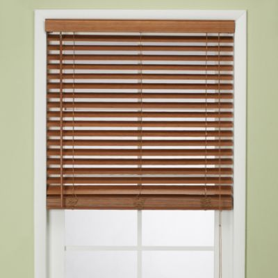 Flat Bamboo Window Blind In Pecan Bedbathandbeyond Com Pick These Up For Both Windows And Three Doors Blinds For Windows Vertical Window Blinds Blinds