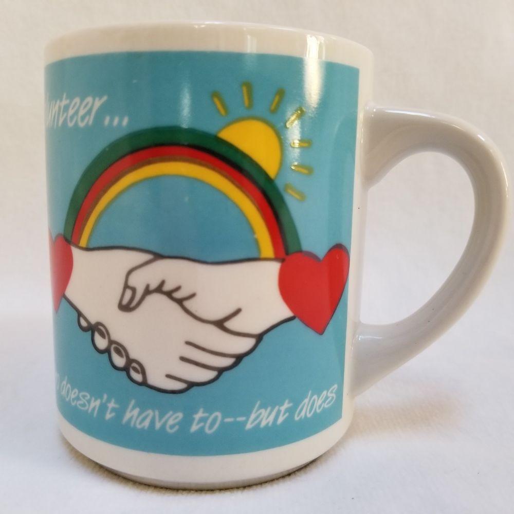 Abbey press rainbow love coffee mug volunteer one who