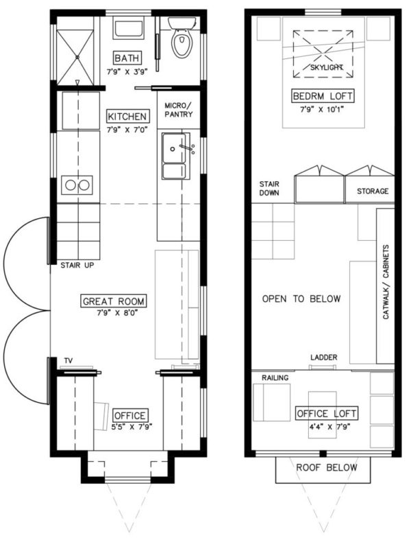 Light Haus Tiny House Plans for Tall People