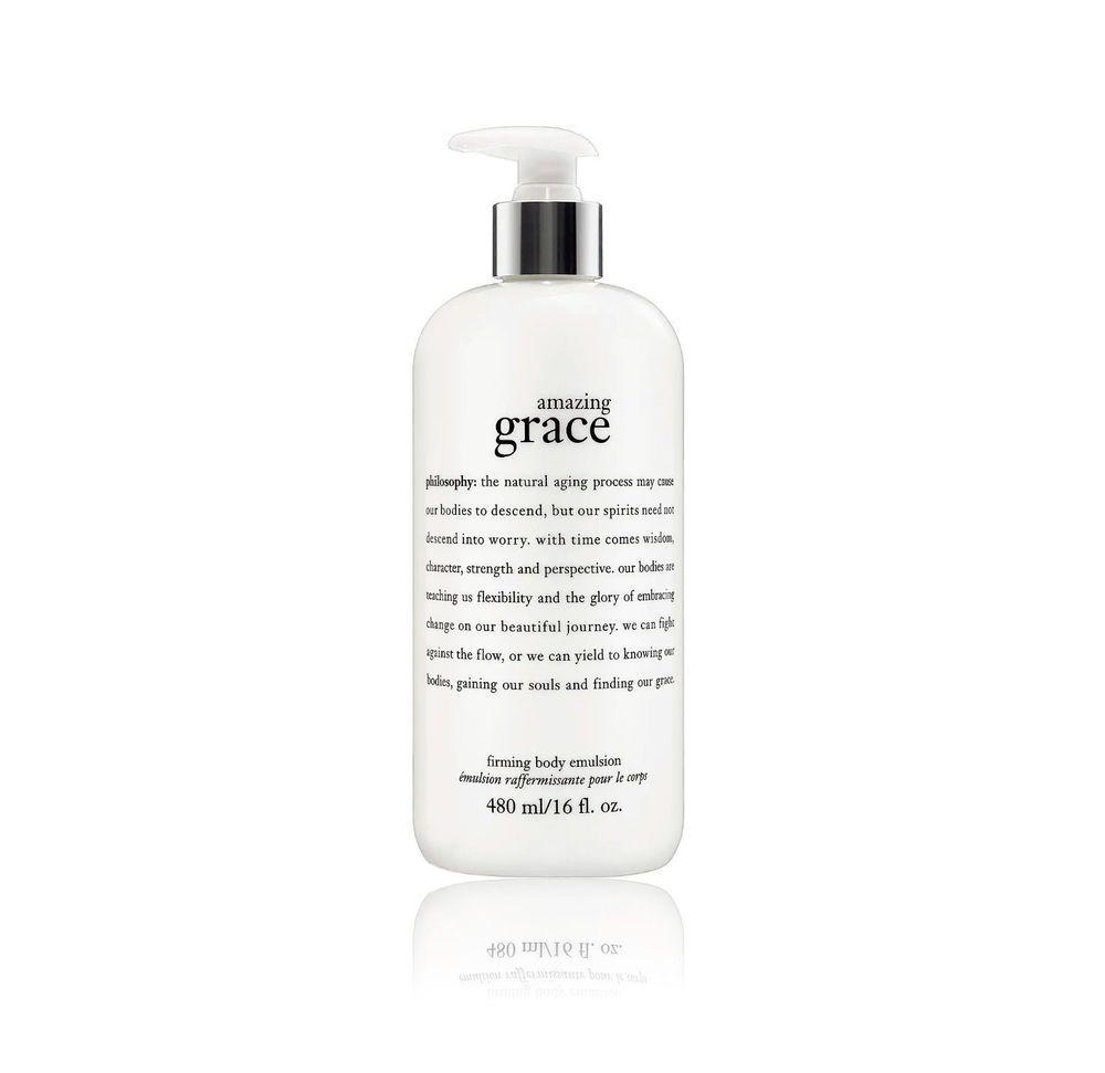 Philosophy Amazing Grace Firming Body Emulsion Jumbo 16 Oz Perfumed Lotion Pump Philosophy Amazing Grace Amazing Grace Lotion Pumps