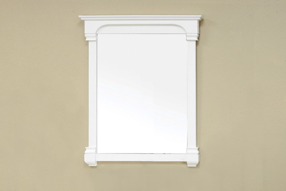 Supai 42 In. L X 36 In. W Solid Wood Frame Wall Mirror in Cream White