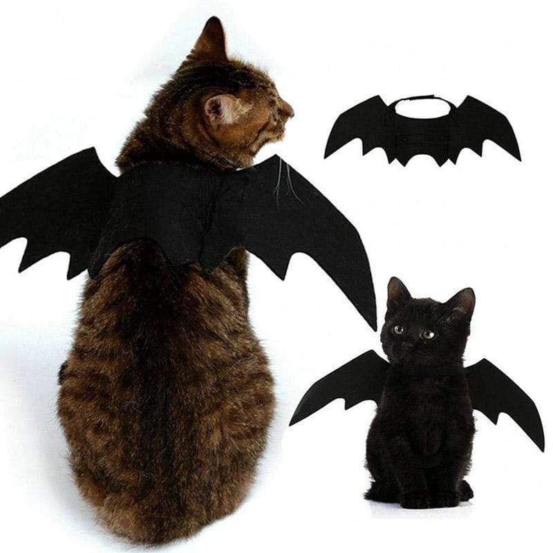 PEDOMUS Cat Costume Pet Bat Wings Cat Bat Costume Halloween Costume Pet Apparel For Small Dogs And Cats