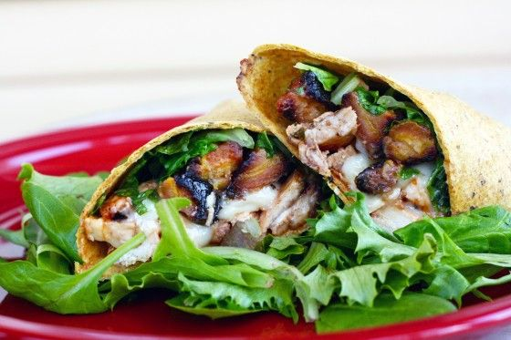 BBQ chicken and brie wrap