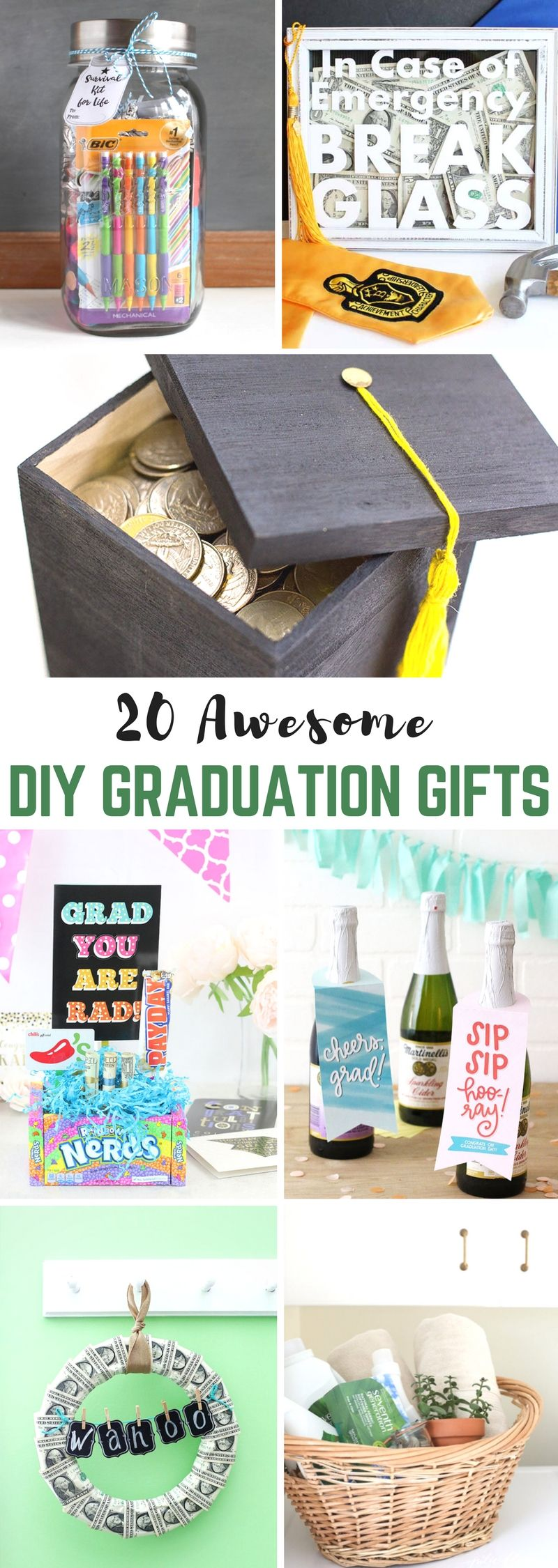 Diy graduation gifts graduation gradgifts highschoolgraduation 20 awesome diy graduation gifts yesterday on tuesday solutioingenieria Images