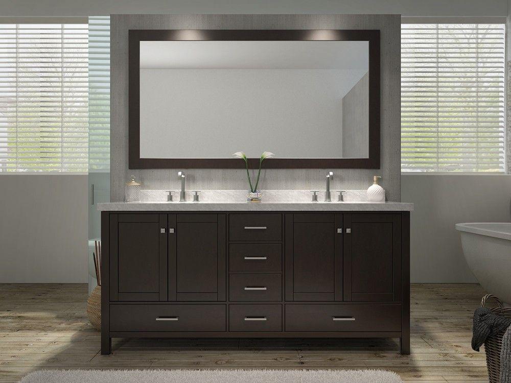 P Ariel A073d Esp Cambridge 73 Inch Double Sink Vanity Set In Espresso P Bathroom Vanity Small Vanity Sink Double Sink Vanity