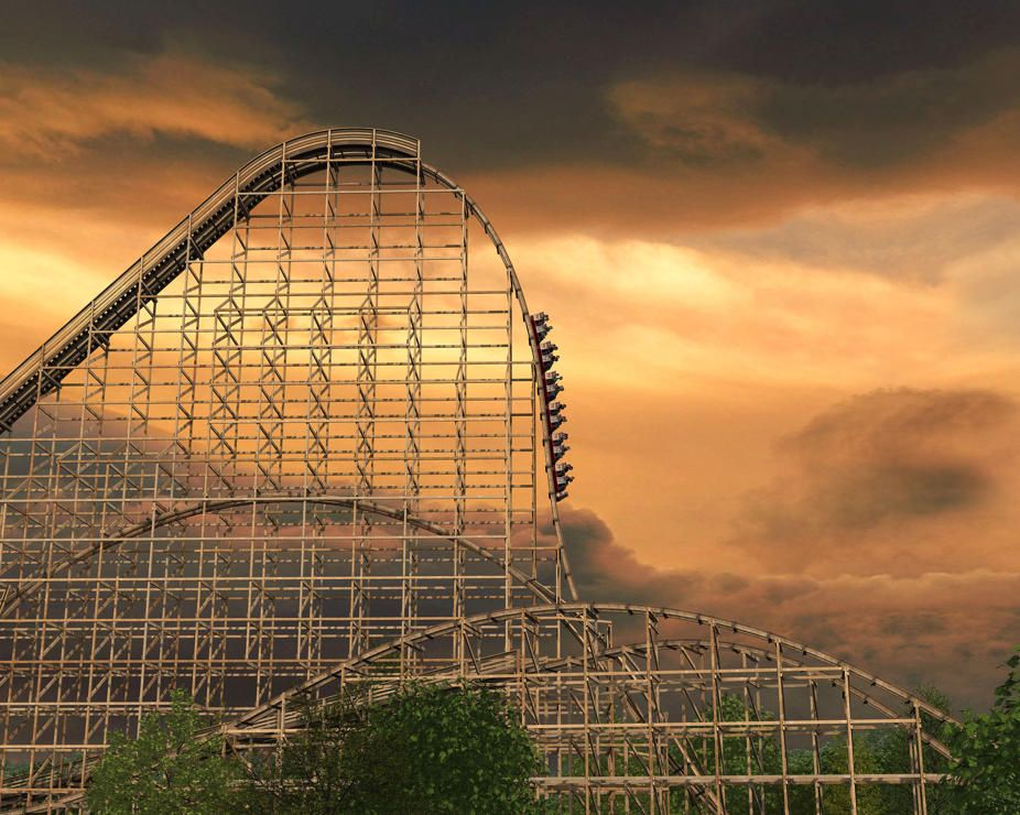 Goliath Six Flags Chicago Goliath Roller Coaster Theme Parks Rides Extreme Roller Coaster