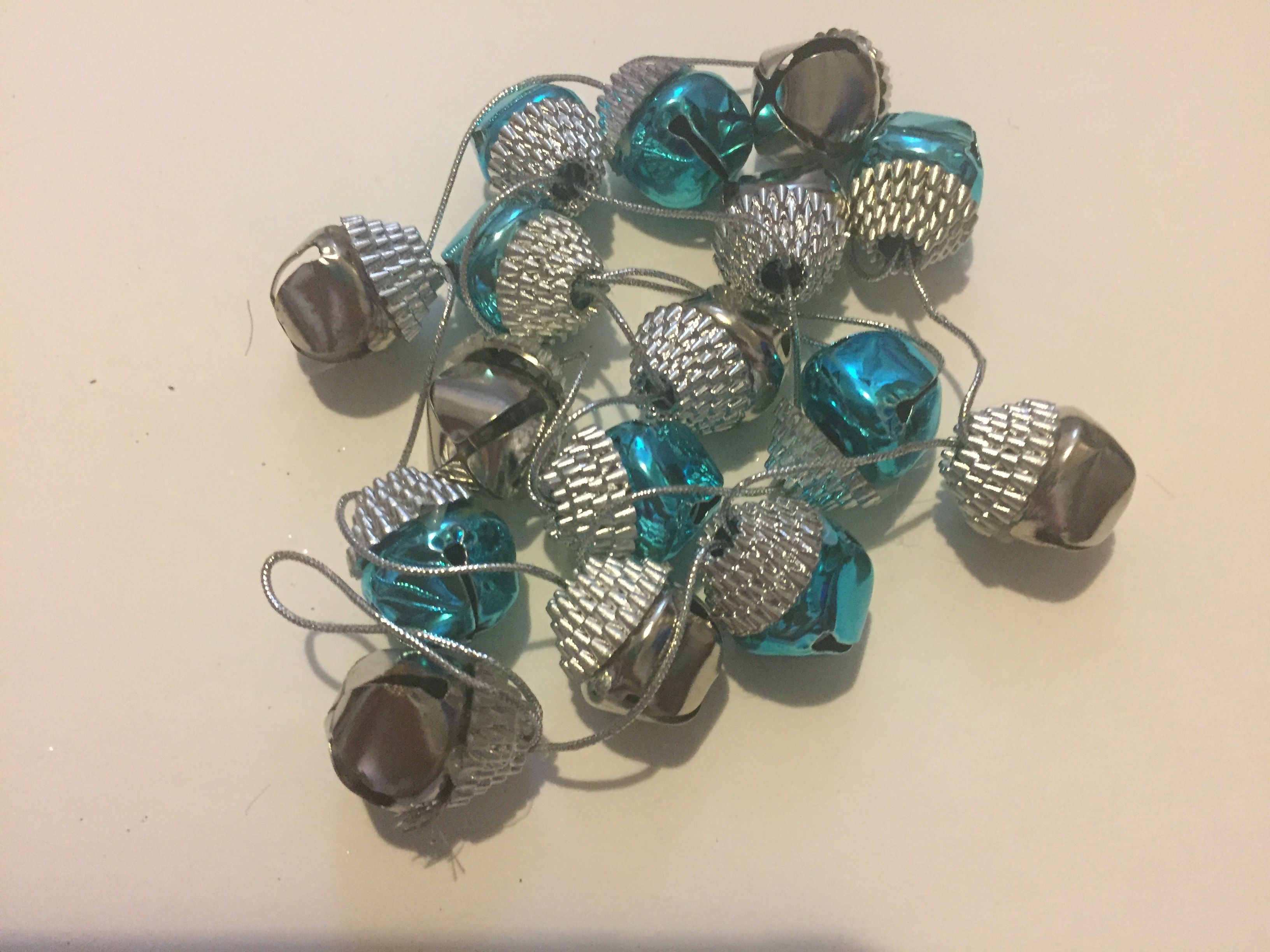 Christmas Silver And Blue Bell Decorations
