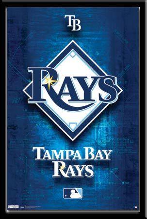 Tampa Bay Rays Logo Poster Tampa Bay Rays Rays Logo Tampa Bay