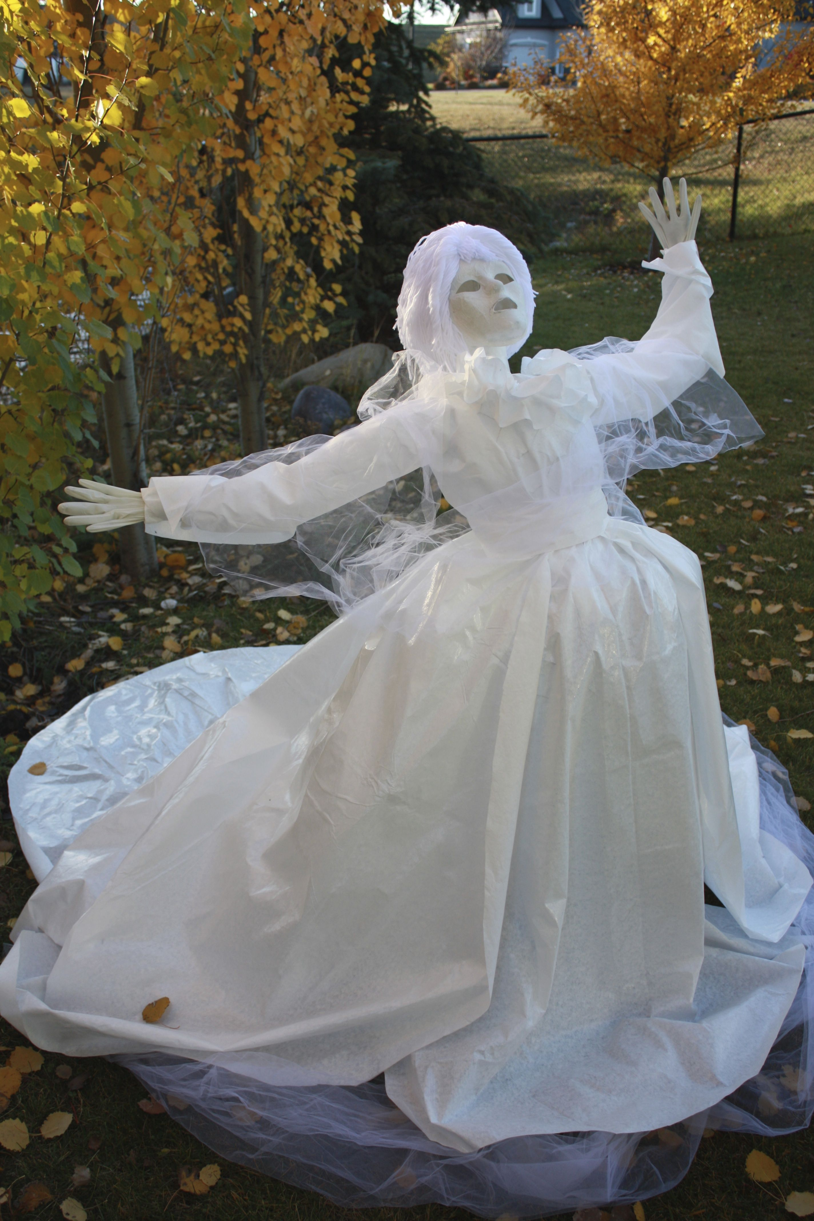 My version of the ghostly lady Georgiana, made for Halloween, began ...