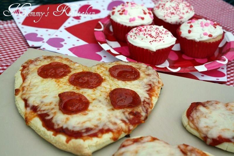 2 Recipes~ Strawberry Jello Poke Cupcakes & Heart Shaped Pizza {Valentines Day Family Dinner & Dessert}