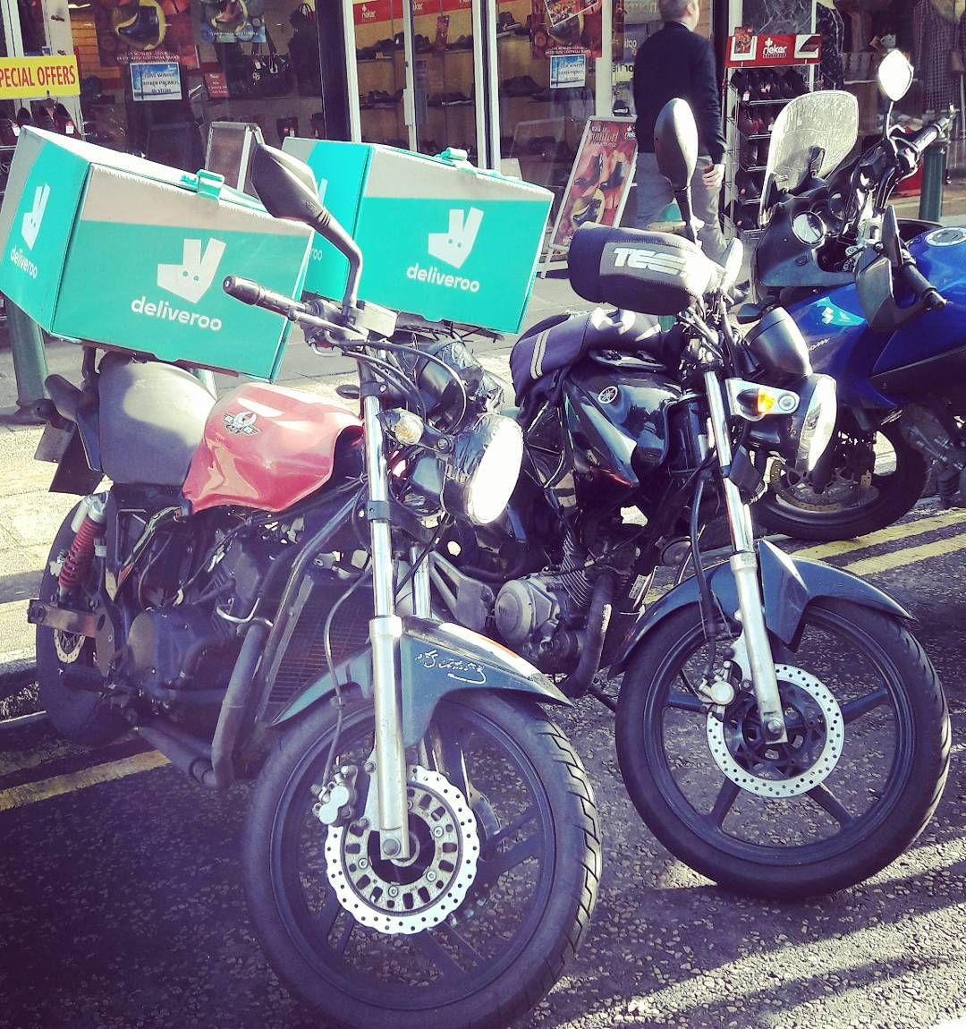 How Sweet A Couple Of Deliveroo Bikers Bikespotting Deliveroo