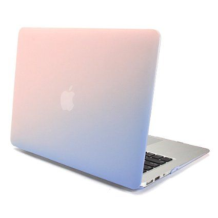 Gmyle Hard Case Frosted For Macbook Air 13 Inch Model A1369 A1466 Baby Pink Serenity Blue Fade Pattern Hard Shell Case Cover Macbook Hard Case