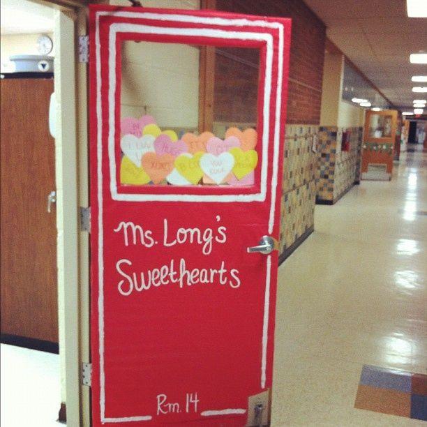 Classroom Doors | Classroom Door Decoration Conversation Hearts ... | Classroom Door I. Image Number 4 Of Candy Door Decorations . & Candy Door Decs u0026 Charlie Brown Christmas Classroom Door ... pezcame.com