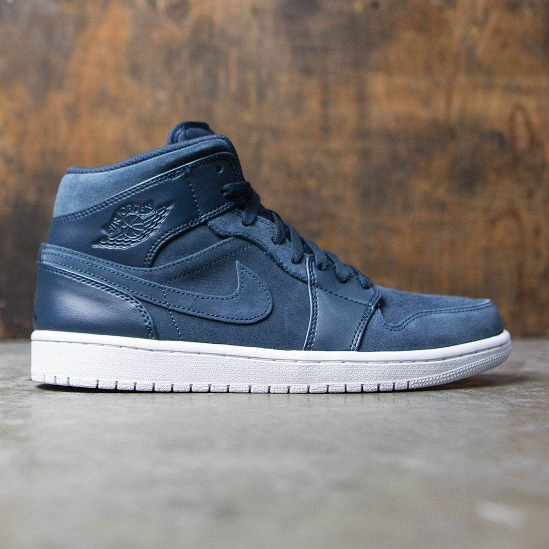 Shoes Outlet - Nike Air Jordan 1 Mid Armory Navy Mens Trainers