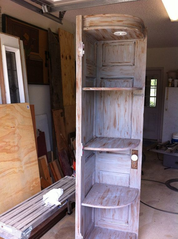 Corner Cabinet Made From Old Doors Woodworking Pinterest