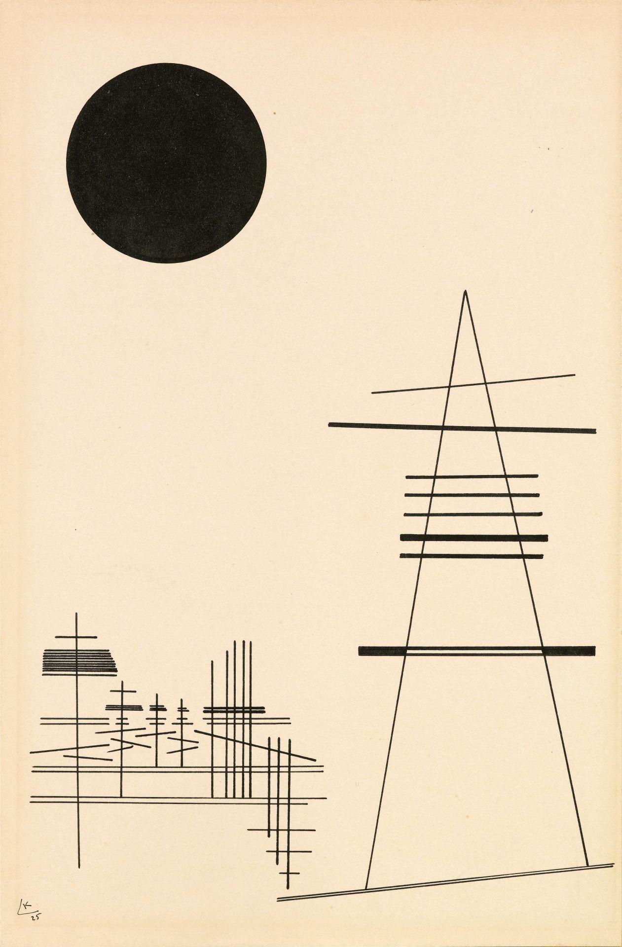 Wassily Kandinsky (Russian, 1866-1944), Zeichnung für Punkt und ...