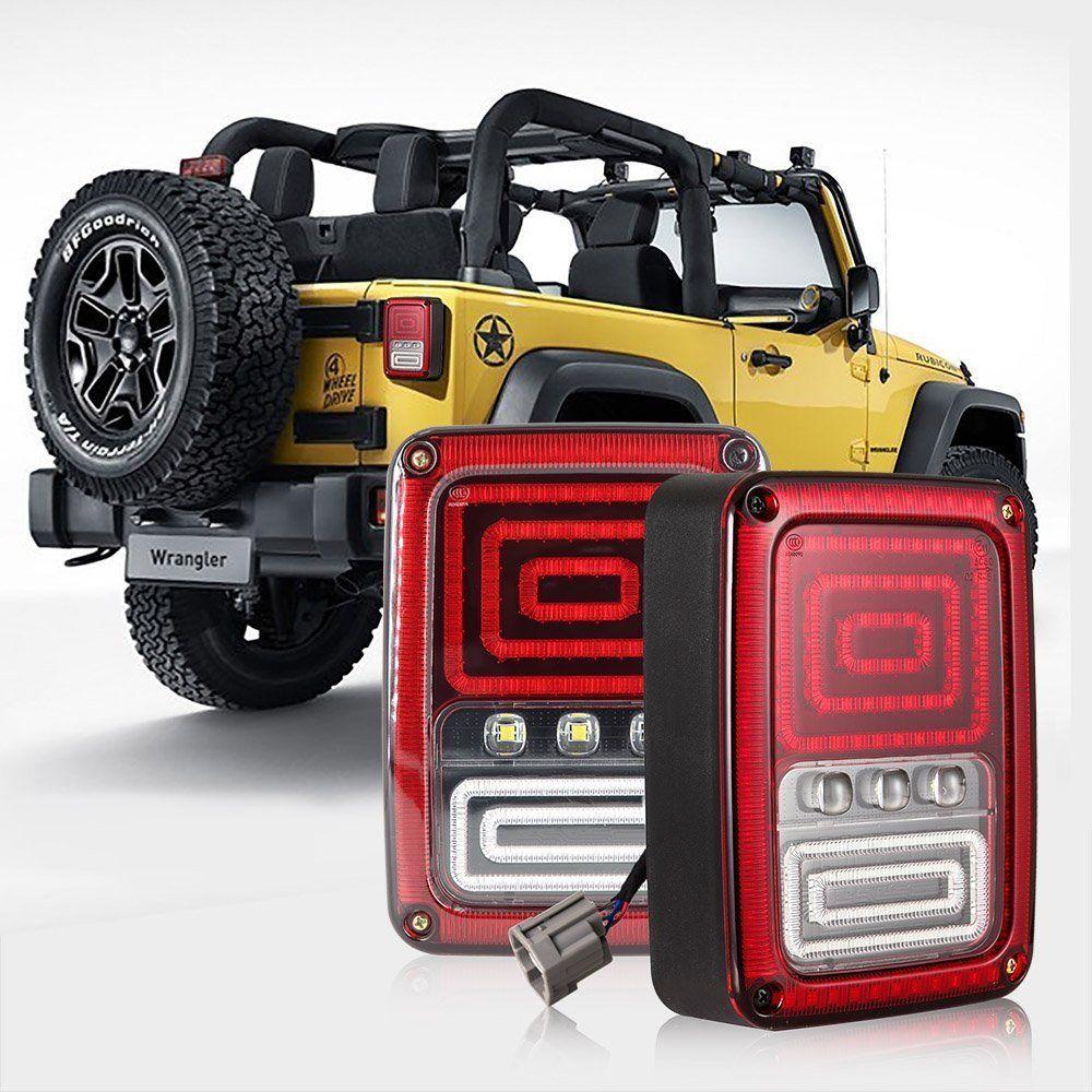 Led Integrated Taillight For Jeep Wrangler Jk 2007 2016 Snake Style Brake Light Reverse Rear Lights Eu Us Vers With Images Jeep Wrangler Jk Jeep Wrangler Led Tail Lights