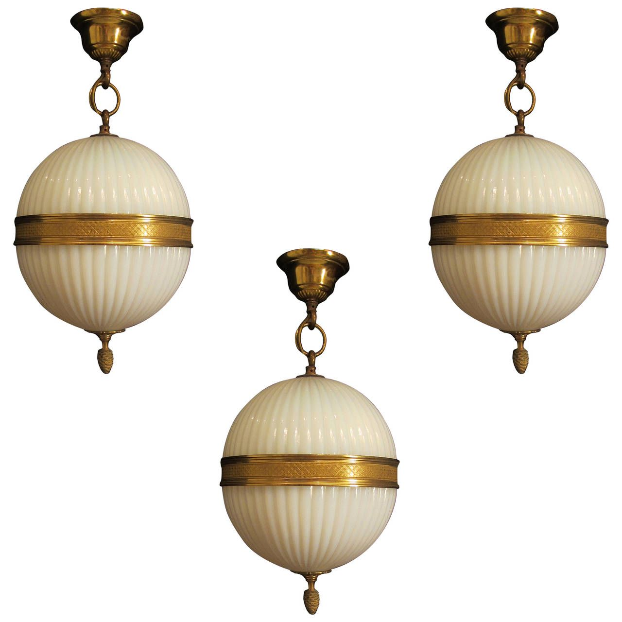 Cut glass globe light and matching wall lights globe lights cut cut glass globe light and matching wall lights from a unique collection of antique and arubaitofo Choice Image