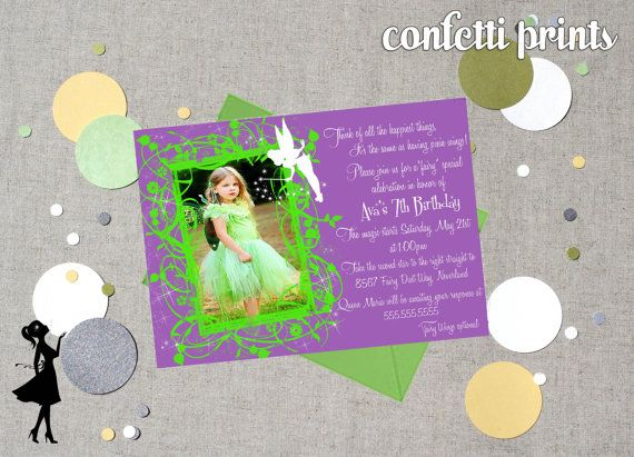 Tinkerbell birthday invitation photo card by confettiprintsshop tinkerbell birthday invitation photo card by confettiprintsshop 1200 bookmarktalkfo Image collections