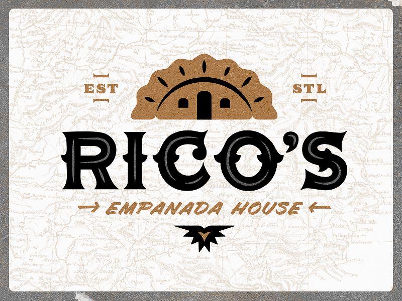Rico S Empanada House Logo Nombres Para Negocio Nombres De Restaurante Logos De Comida