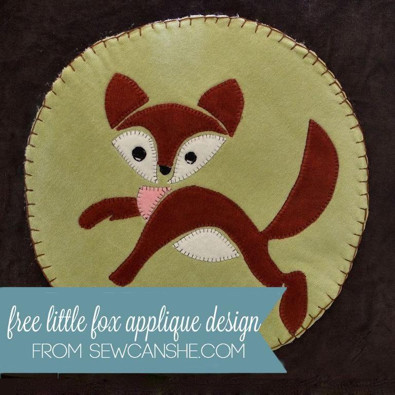 DIY Fox Applique - FREE Pattern | FREE Felt & Toy Patterns ...