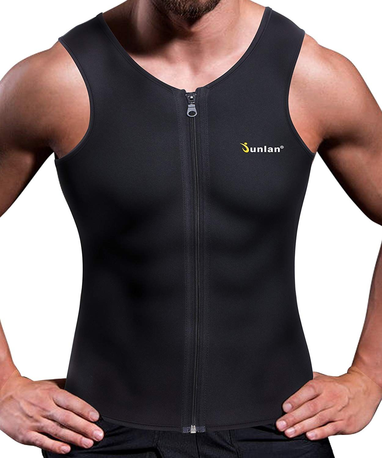 8dded461f05 Amazon.com   Junlan Men Weight Loss Shirt Workout Neoprene Top Training  Body Shaper Clothes