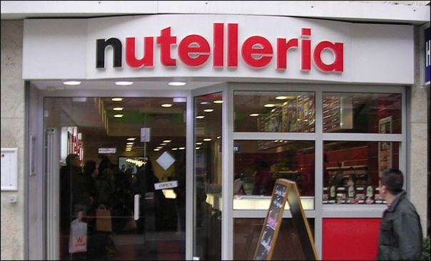 Nutelleria, a fast food restaurant that  only serves Nutella . Pancakes, cookies, muffins, milkshakes, tiramisu, pasta, ... everything is adapted to the world of the famous spread. (Currently only in Germany + Italy.)