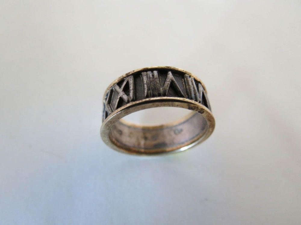bocote jewelry peter brams designs signed pbd 925 silver 14k gold ring size 6