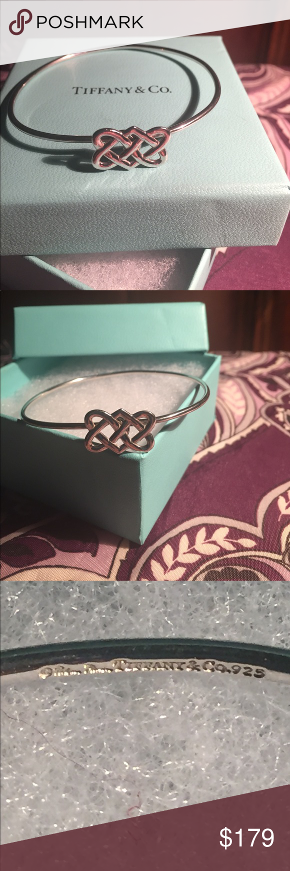 7245ab4b9 Tiffany & Co Trinity Love Knot Bangle Bracelet Paloma Picasso Tiffany & Co  Sterling Celtic Trinity Love Knot Bangle Bracelet. Beautiful and unique!