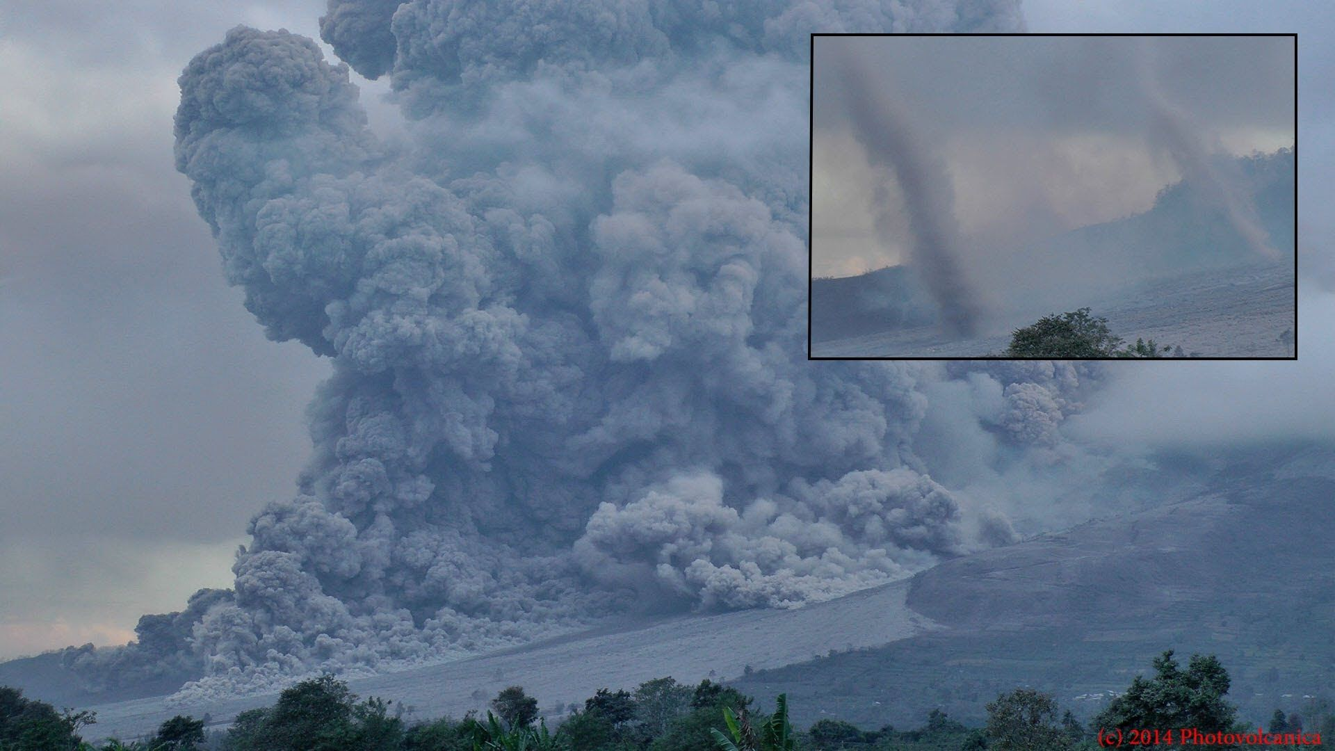 A Recent Video From Sinabug Of A Pyroclastic Flow