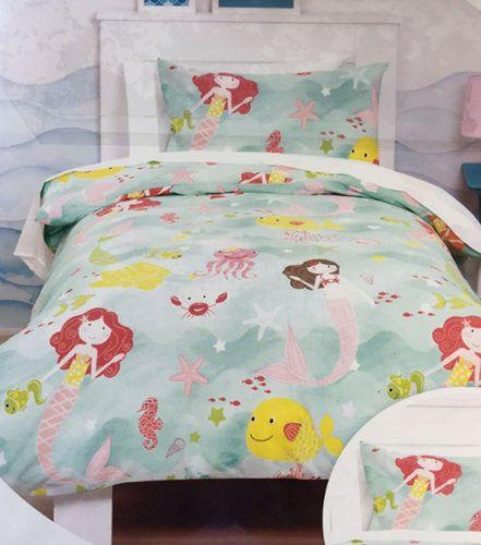 Mermaids Junior Duvet Cover And Pillowcase Toddler Bed Set Mermaid Toddler Bedding Kids Bedding Sets