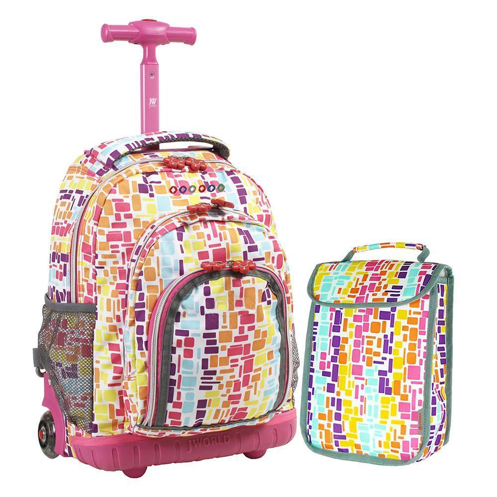 18268050aade J World 'Lollipop' 16-inch Kids Rolling Backpack/Lunch Bag ...