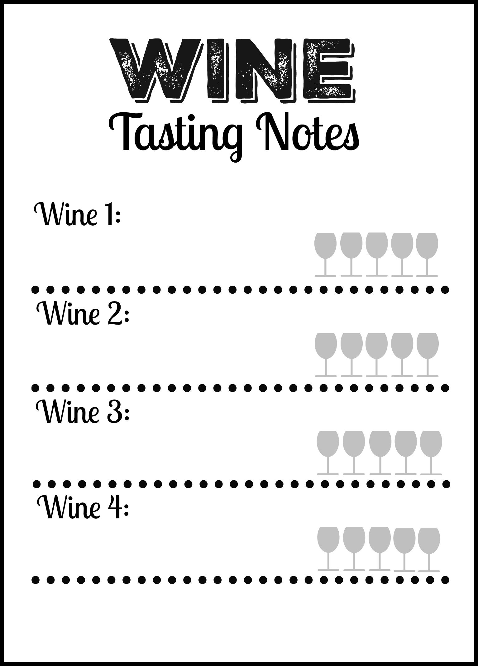 image regarding Wine Tasting Sheets Printable named Wine Tasting Social gathering Free of charge Printable Wine Tasting Notes Card