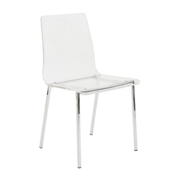 Chloe Side Chair Clear Set Of 4 Clear Dining Chairs Side Chairs Dining Clear Chairs