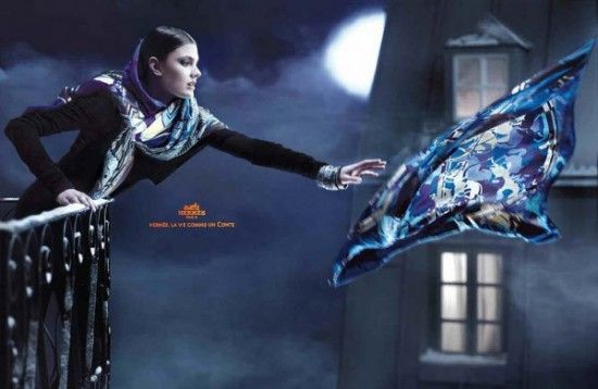 Campagne publicitaire Hermès automne hiver 2010 2011   Fashion-Silk ... 1122a562f1f
