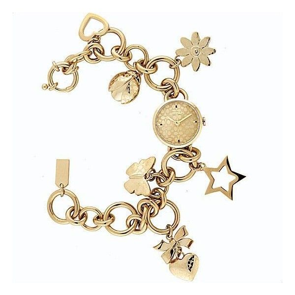 Coach Zoe Charm Bracelet Watch Found On Polyvore Box Of Treasuries